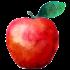 Tekening van een appel
